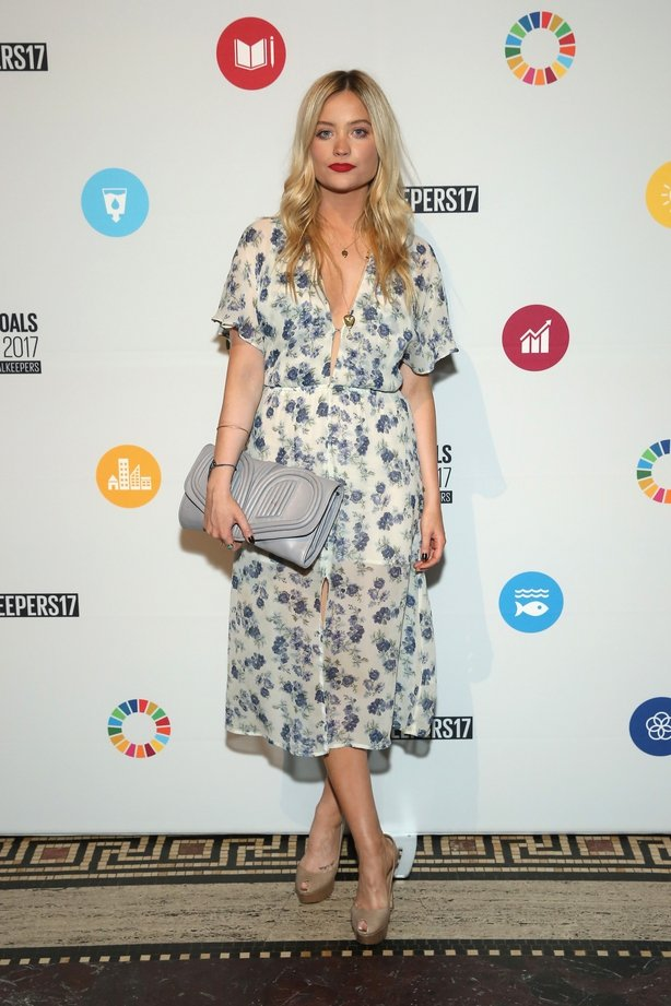 Laura Whitmore attends The Goalkeepers Global Goals Awards
