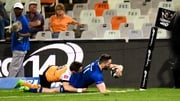 Leinster's Barry Daly scores a try against the Cheetahs