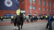 Police on patrol outside Ibrox Stadium