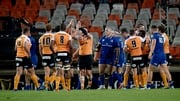 Cheetahs celebrating a try against Leinster