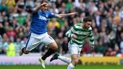 Lee Hodson of Rangers and Patrick Roberts of Celtic