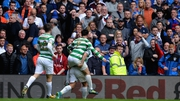 Leigh Griffiths of Celtic celebrates scoring