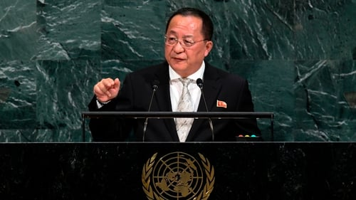 """North Korea's Foreign Minister Ri Yong Ho called Donald Trump a """"mentally deranged person full of megalomania"""""""