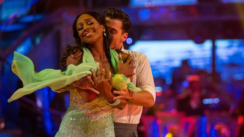 Alexandra Burke and her Strictly dance partner Gorka Marquez