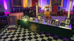 Hundreds of families attended a service in the Freemasons Hall in Dublin this afternoon