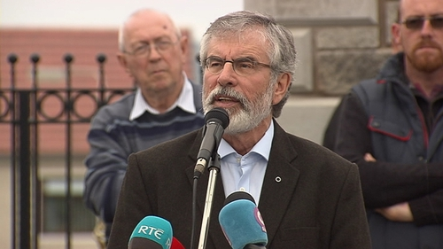 Gerry Adams was speaking at an event in west Belfast to commemorate hunger strikers