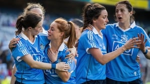 Dublin players celebrate their All-Ireland final victory