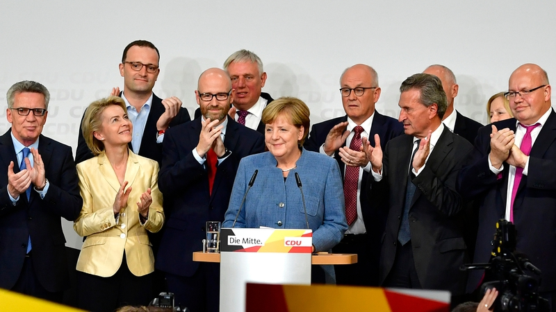 Image result for Angela Merkel wins fourth term