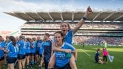 Sinead Finnegan and Denise McKenna in celebratory mood