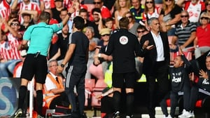 Jose Mourinho is sent to the stands