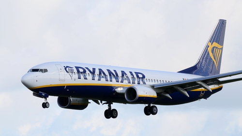 Look up, it's Ryanair (provided the flight has not been cancelled)