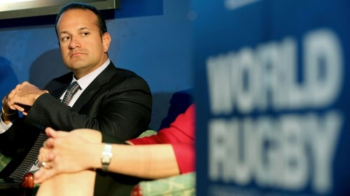 Leo Varadkar at the IRB World Rugby Conference and Exhibition in November 2013