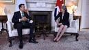 Leo Varadkar and Theresa May in Downing Street