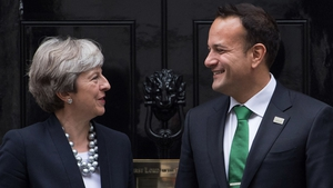 Theresa May with Leo Varadkar at No 10 Downing Street