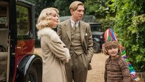 Domhnall Gleeson, Margot Robbie and Will Tilston in Goodbye Christopher Robin