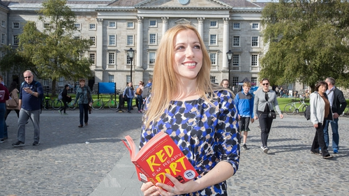 Author Elizabeth 'E.M.' Reapy pictured today at Trinity College Dublin, where she was announced as the winner of the Rooney Prize for Irish Literature 2017