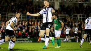 Sean Hoare celebrates Robbie Benson's late goal