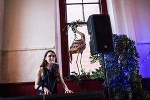 Singer Sarah Beth Performing.