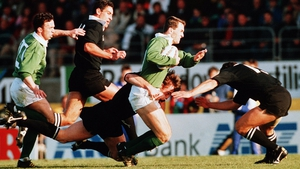Neville Furlong in action against the All Blacks in 1992