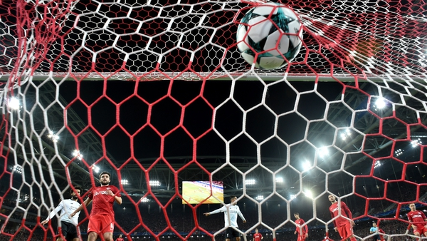 A spectacular free-kick put Spartak Moscow ahead