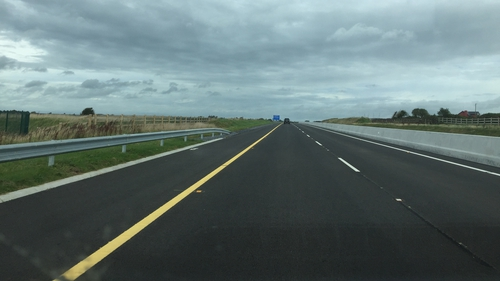 The toll-free motorway has been constructed over several years