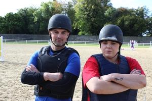 horseriding challenge Karl and Kayleigh