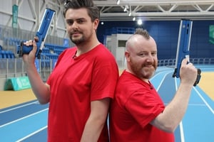 James and Gary laser run event