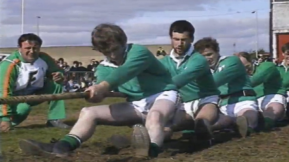 rish Tug Of War team competing in European Championships (1987)