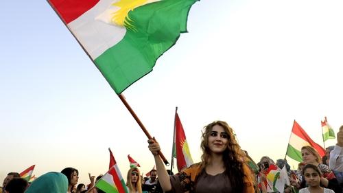 Kurds celebrate following the referendum