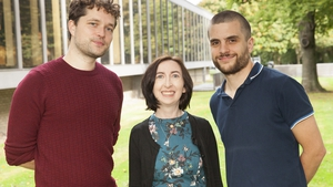 Francis MacManus Annual Short Story Competition winners (l-r) Colin Walsh, Barbara Leahy and Felipe Deakin.