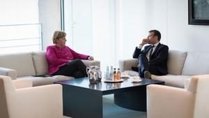 Emmanuel Macron sees Angela Merkel's backing for his plans as crucial
