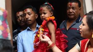 Trishna Shakya is considered the embodiment of the Hindu goddess Taleju