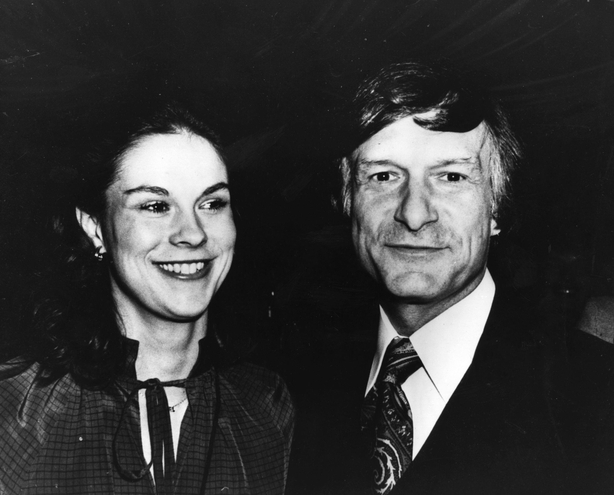 Hefner And Daughter  circa 1979: American editor, publisher and founder of Playboy magazine Hugh Hefner and his daughte