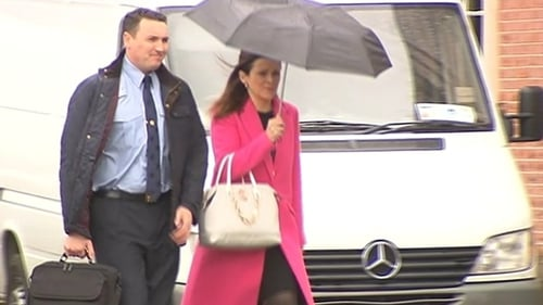 Garda Keith Harrison, pictured at the Disclosures Tribunal with Marissa Simms