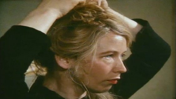 Marie Mullen gets made up for The Playboy of the Western World 1982