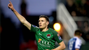 Garry Buckley celebrates what proved to be the winning goal at Turner's Cross