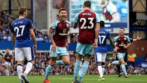 Jeff Hendrick runs to celebrate his goal with Stephen Ward