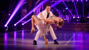 "Brendan Cole with partner Charlotte Hawkins on Strictly last year - ""I'm very disappointed, it's still hard to talk about it"""