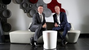 Managing director of BT Ireland Shay Walsh (l) and JD Buckley, Managing Director of Sky Ireland