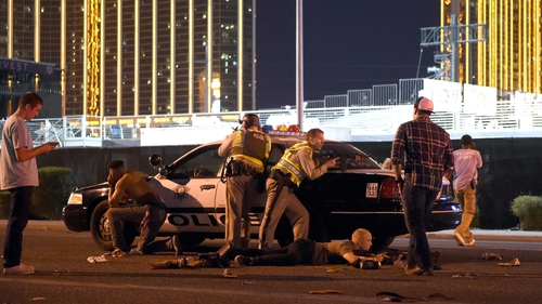 The shooting took place last night in Las Vegas