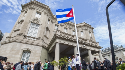 The Cuban embassy in Washington, DC