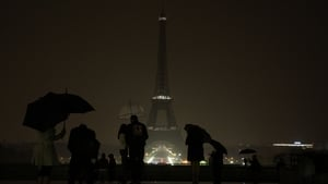 The Eiffel Tower in Paris, France went dark to honour the victims