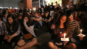 Students at The University of Nevada paid their respects