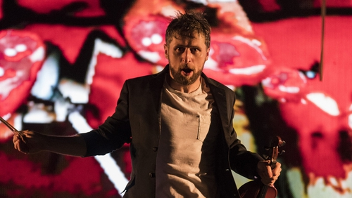 Aaron Monaghan stars in Enda Walsh's modernist opera The Second Violinist, playing at this year's Dublin Theatre Festival.