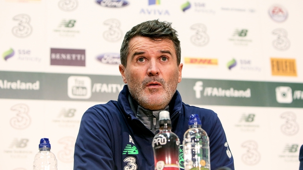 Roy Keane at today's press conference in Abbotstown