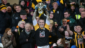 Paul Hearty lifting the 2015 Ulster club title