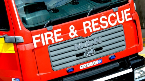 Seven appliances and 38 firefighters are attending the scene at Carnbane Industrial Estate