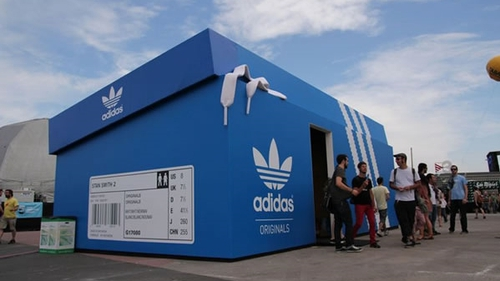 An Adidas pop-up store in London