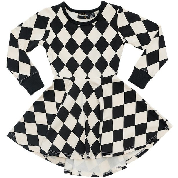 Harlequin Waisted Dress by Rock Your Kid
