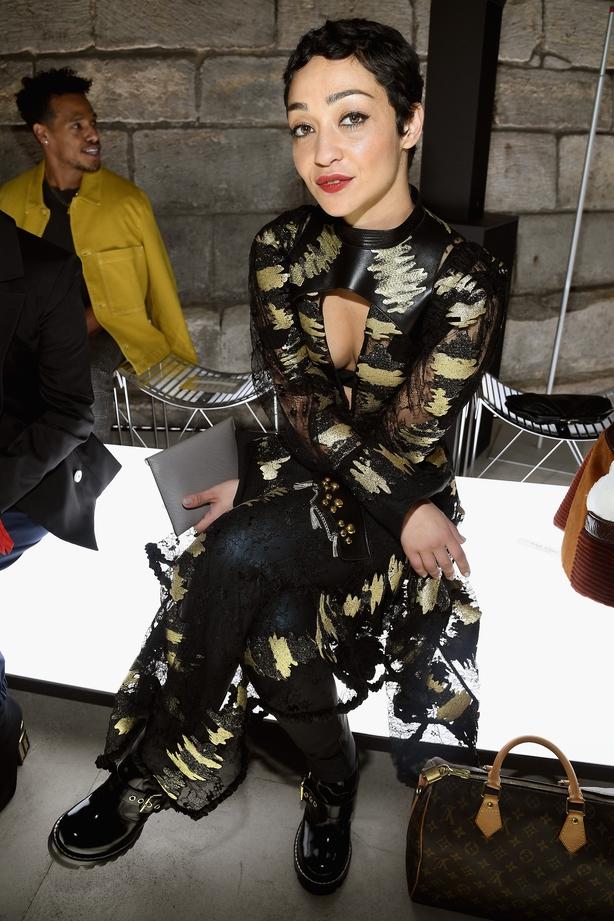 Ruth Negga attends the Louis Vuitton show